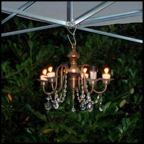 candles or solar lights outdoor chandelier gardening