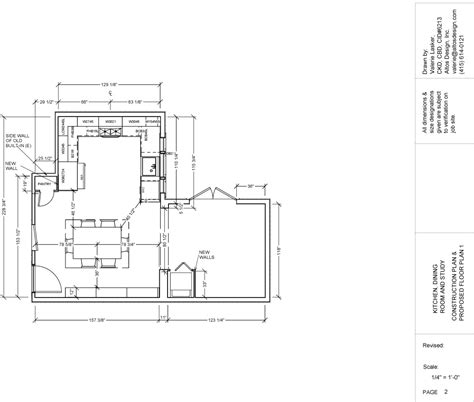 Kitchen Floorplan by Cad Drawings Valerie Lasker Design