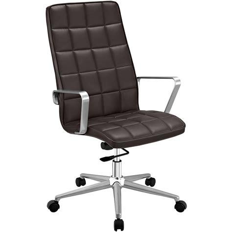 tile high back vinyl upholstered office chair with tilt