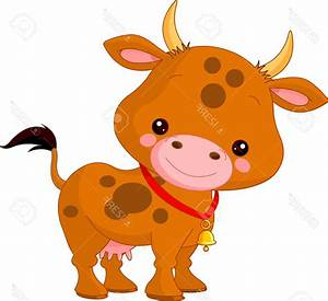 Best 15 Farm Animals Illustration Of Cute Cow Stock Vector ...