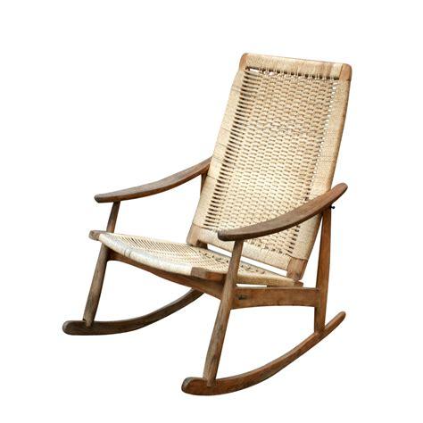 rocking chair and ottoman danish vintage rocking lounge chair and ottoman set ebay