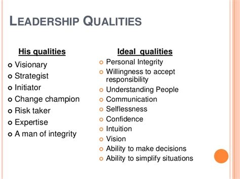common characteristics  great leaders essaycorp