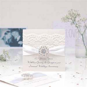 opulence diamond wedding personalised anniversary card by With images of diamond wedding anniversary cards
