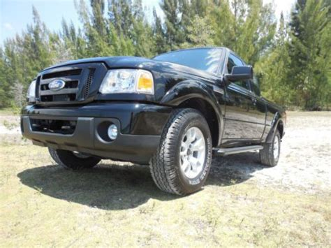 buy used black 2011 ford ranger sport 4x4 supercab xlt package 4 door 24 pics and in miami