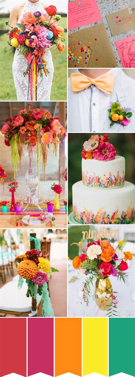 183 Best Images About Multi Colored Wedding Colors And