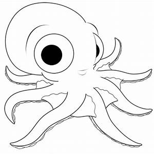 Cartoon Octopus Step by Step Drawing Lesson