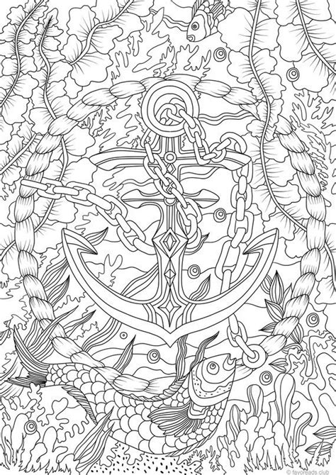 anchor printable adult coloring page  favoreads