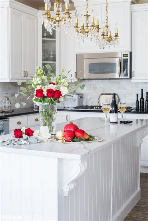christmas kitchen decor  french country elegance