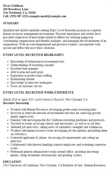 sle resume of healthcare recruiter resume ixiplay