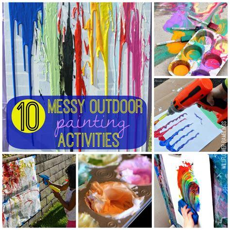 messy outdoor painting activities wildflower ramblings