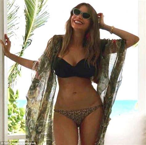 Sofia Vergara sizzles in a skimpy bikini   Daily Mail Online