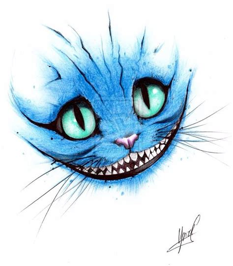 alice  wonderland cat drawings tatouage du