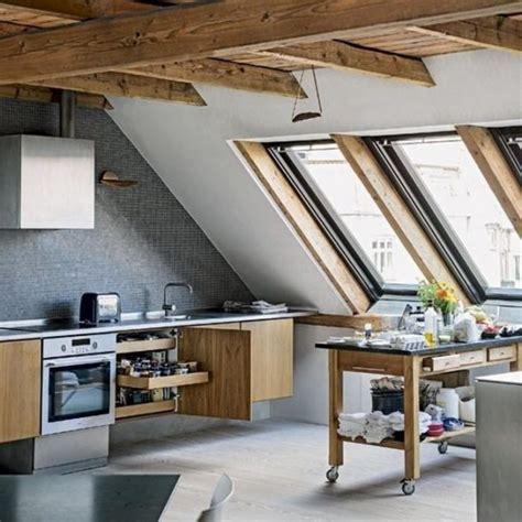 super functional attic kitchens   impress