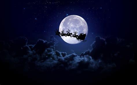 christmas moon christmas sleigh santa santa claus
