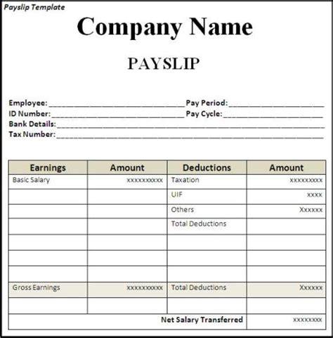 Editable Payslip Template top 5 free payslip templates word templates excel templates
