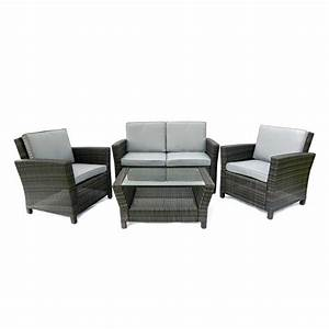 Rattan Lounge Set : rattan lounge set vidaxl black outdoor poly rattan lounge set with cushions outsunny 3 piece ~ Orissabook.com Haus und Dekorationen