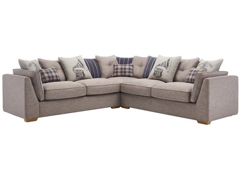large corner settee california 4 seater pillow back corner sofa civic smoke