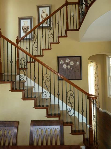 wood banisters stair parts wood and wrought iron balusters newels