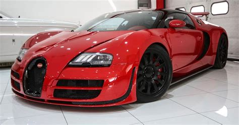 Wicked Red On Red Bugatti Veyron Is A French Hypercar Oddity