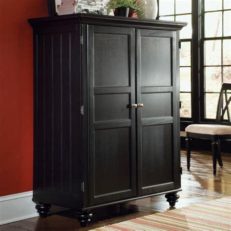 Black Wardrobe Cabinet - american drew camden computer armoire black at hayneedle