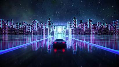 4k Vaporwave Cyber Retro Synth Outrun Wallpapers