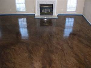 Acid stained concrete floors the beauty is in the quality for How to stain cement floors