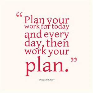 Work Your Plan Quote