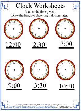 telling time worksheet elapsed time