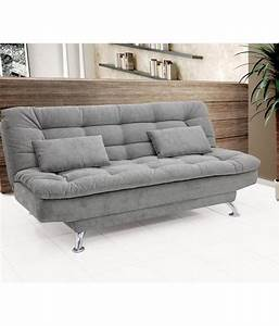 3 seater sofa cum bed in grey buy 3 seater sofa cum bed for Let out sofa bed
