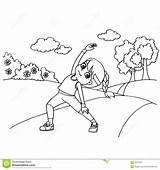 Rope Coloring Cartoon Jumping Kid Della Beeldverhaal Seils Bambino Jong Kleuren Corda Salto Coloritura Fumetto Vettore Pagina sketch template