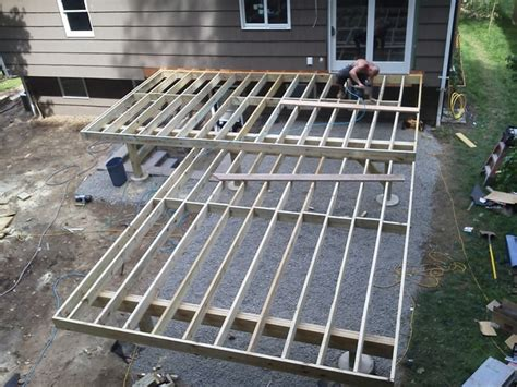 deck joist size maintenance free deck gallery