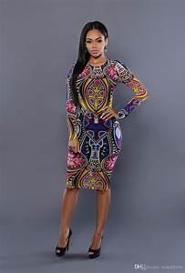 Dashiki bodycon dress robe femme ete 2016 bohemian dress for Robe cocktail ete 2016