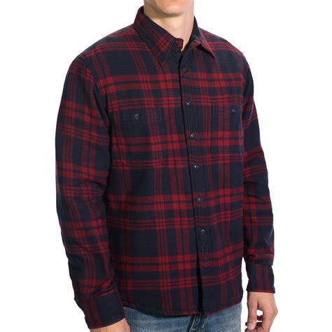 flannel shirt jacket with quilted lining gant c cus flannel shirt jacket quilted lining for
