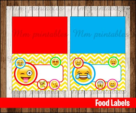 sale emoji food tent cards instant