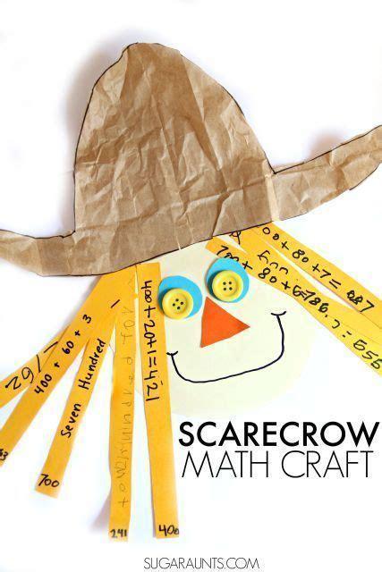 place  scarecrow craft halloween math  grade