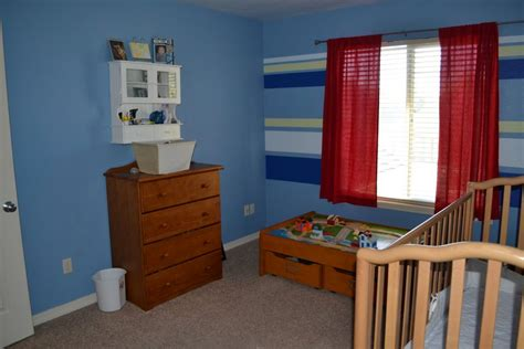 Bedroom Paint Ideas Stripes by Blue Toned With Blue Stripes Rooms Paint Ideas