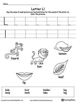 words starting  letter  alphabet worksheets