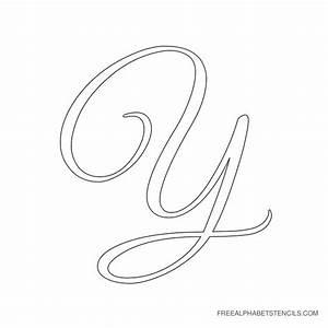 large printable cursive letters docoments ojazlink With large cursive letter stencils