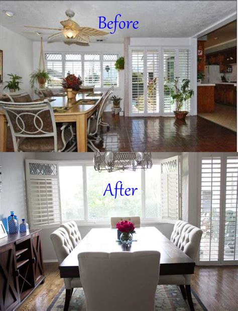 before and after room makeovers before and after dining room makeover mama in heels