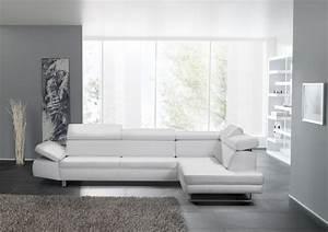 Canapé Design 3 Places : canap design 3 places bandibandi cuir blanc ~ Teatrodelosmanantiales.com Idées de Décoration