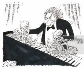 Cartoon Crazy Piano Player