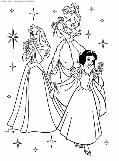 Pages Disney Princesses Coloring Timeless Miracle