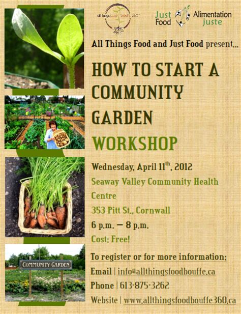 how to start a community garden all things food bouffe 360 healthy local food for all