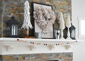 Our Neutral Valentine's Day Mantel Decor The DIY Mommy