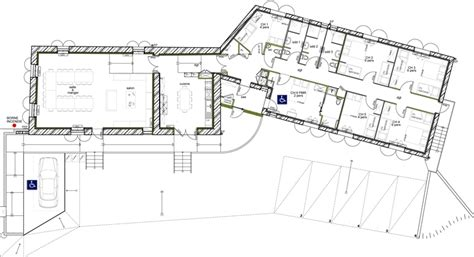 plan maison plain pied 5 chambres plan de maison plein pied en v