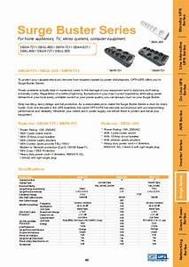 Surge Buster Series Sbgl-600 Manuals