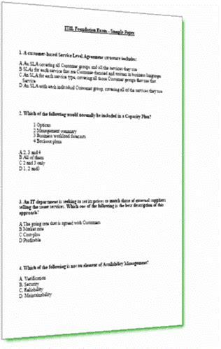 foundation success   itil foundation exam