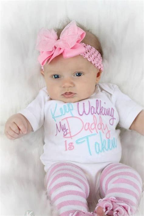 baby girl clothes embroidered   walking  daddy