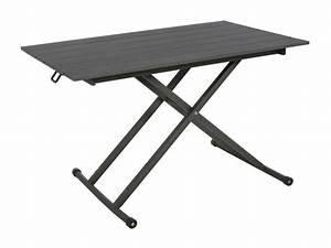 table basse hesperide modele venezia hauteur reglable With hauteur table de jardin