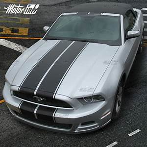 2013 2014 Ford Mustang Convertible Rally Racing Double Stripes Decals - MotorINK